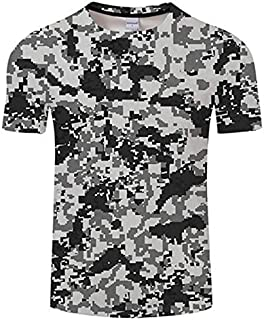 HPXCAZ Newest 3D Printed T-Shirt Ink Draw Pattern Short Sleeve Summer Casual Tops Tees Fashion O-Neck Tshirt Male (Color : T6, Size : XXS)