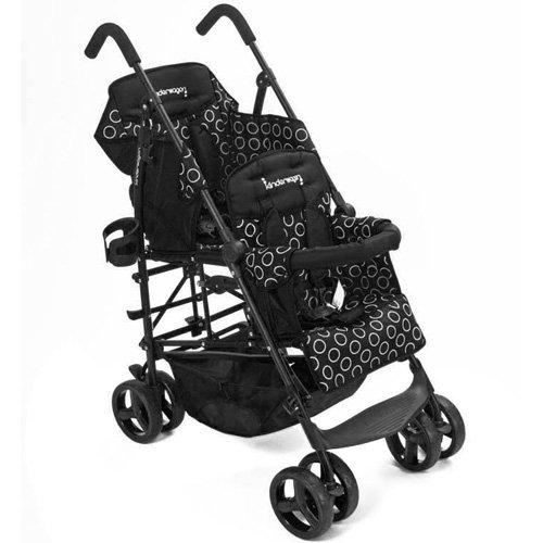 Kinderwagon Hop Tandem Stroller - Black