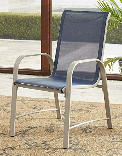 Cosco Outdoor Living 88645BGPE Paloma Outdoor Dining Chairs, 6Piece, Navy