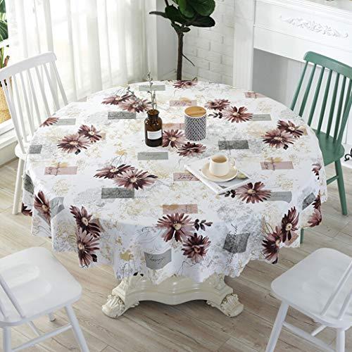 Tafelkleed waterdichte PVC Olie-Proof Spill-Proof Vinyl rechthoek tafelkleed afwasbare tafel dekken for buiten en binnen (Color : A-Multi-colored, Size : Diameter 320cm)