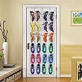 JYHY Zapatero de 24 bolsillos para almacenamiento sobre la puerta, bolsillos de malla, resistente para colgar, soporte de almacenamiento, organizador para armario