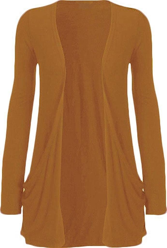 Commencer Womens Long Sleeved Drop Pocket Cardigan Sweater