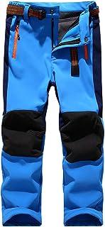 Boys Snow Ski Pants Kids Girls Hiking Waterproof Windproof Insulated Fleece Lined Youth Winter Outdoor Soft Shell Pants