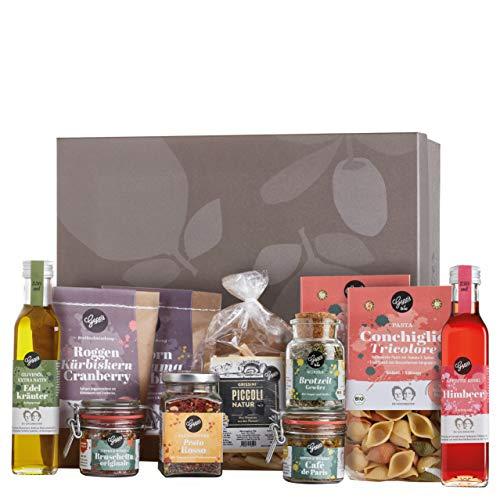 Gepp's Feinkost Basic Paket Familie   Vorratspaket mit Delikatessen, wie Bio Pasta, Edelkräuter Olivenöl, Grissini aus dem Piemont   Geschenkset für Feinschmecker oder für den Vorrat (A0060)