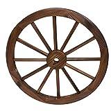 Rueda de Madera de Carro Estilo Vintage con un diámetro de 80 centímetros I...
