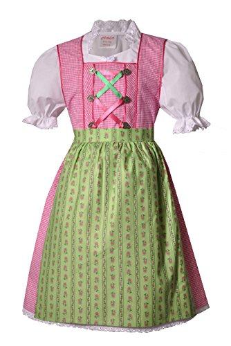 Coala Kinderdirndl Egling pink/grün Set 3 TLG, Gr. 134/140