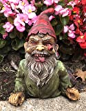 """Ebros Walking Dead Severed Body Zombie Gnome Crawling On The Floor Statue 7"""" Long for Creepy Spooky Undead Underworld Halloween Sculpture Prop at Home Patio and Garden Decor"""