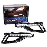 iJDMTOY Xenon White LED Daytime Running Lights Compatible With 2015-2017 Hyundai Sonata SE, OEM Style DRL Bezels
