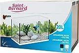 SAINT BERNARD Aquarium avec Filtre pour Aquariophilie Blanc 40 cm 20 L
