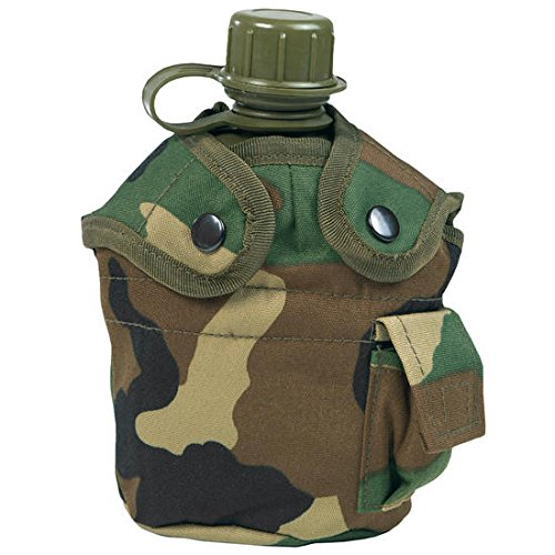 Mil-Tec US Style Canteen & Cup (Woodland)