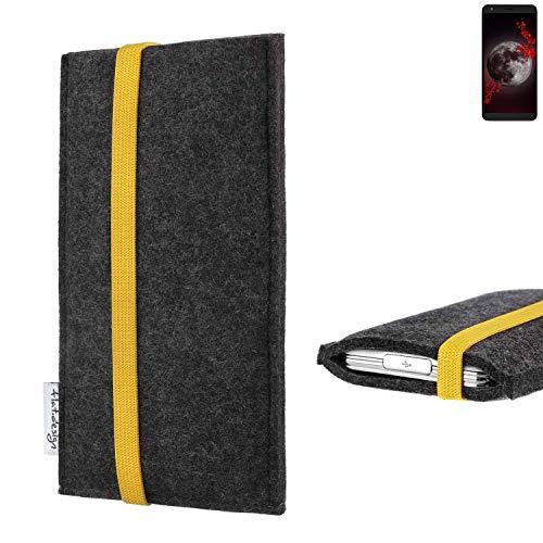 flat.design vegane Handy Tasche Coimbra für Sharp Aquos B10 - Schutz Hülle Tasche Filz vegan fair gelb