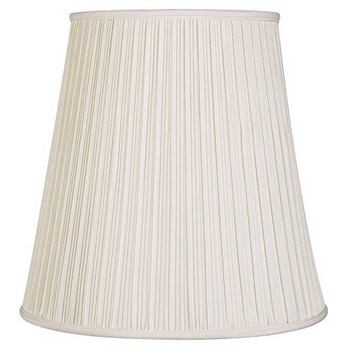 Creme Mushroom Pleat Lamp Shade 12x18x18 (Spider) - Springcrest Alabama