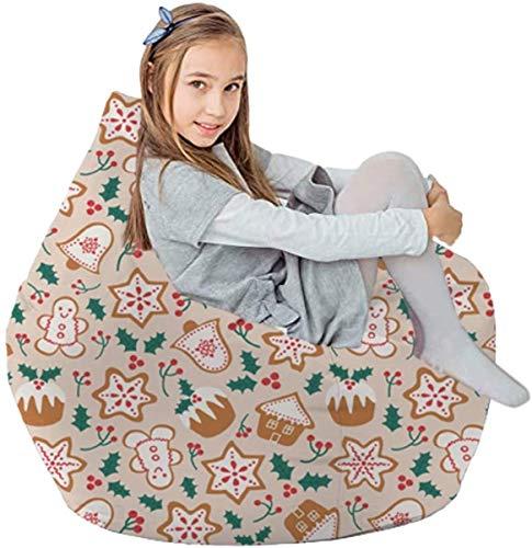 yxx Sitzsack Gefüllte Tierspeicherung - nur - Plüschspielzeughalter und Organizer for Jungen und Mädchen Baumwoll-Leinwand (Color : Pink Biscuit)