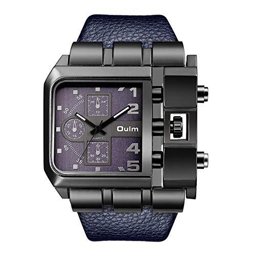 YLH Personalidad Reloj De Hombre Hip Hop Hop Reloj De Cuarzo Concepto Creativo Big Dial Relojes (Color : Blue)