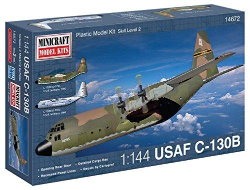 Minicraft Models Dempsey Designs Morceau modèles Echelle 1 : 144 cm c-130b USAF avec marquage 2 Options Kit de modèle