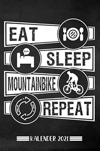 Kalender: Mountainbike Kalender 2021 | Kalender & Notizbuch| Geschenk für Mountainbiker|A5 6x9 Format (15,24 x 22,86 cm)