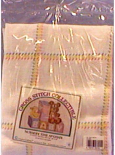 DMC AF7300-0322 Nursery Time Baby Afghan Cotton, Antique White