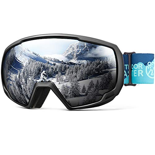 OutdoorMaster Kids Ski Goggles, Snowboard Goggles - Youth Snow Goggles - Midnight