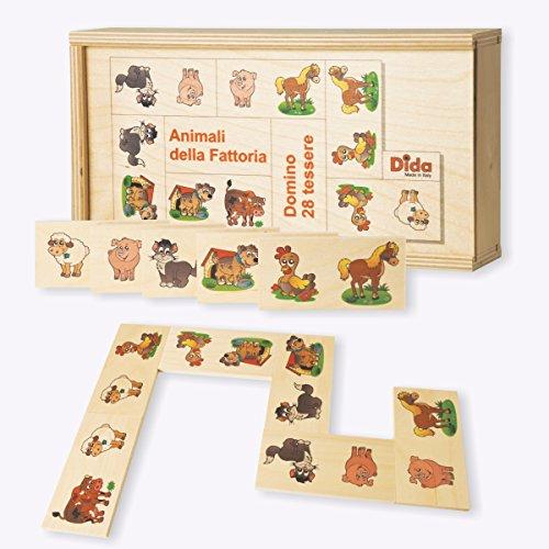 Dida - Das Domino Tiere auf dem Bauernhof Ist EIN Kinderspiel Für Kleinkinder , Aber Auch EIN Gesellschaftsspiel Für Die Ganze Familie. Das Holzdomino Ist Auch Ideal Für Den Kindergarten
