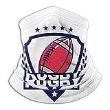 Bufanda de microfibra unisex con logotipo de Rugby Ma-sk para cuello de cara Ma-sk, bandana para pasamontañas