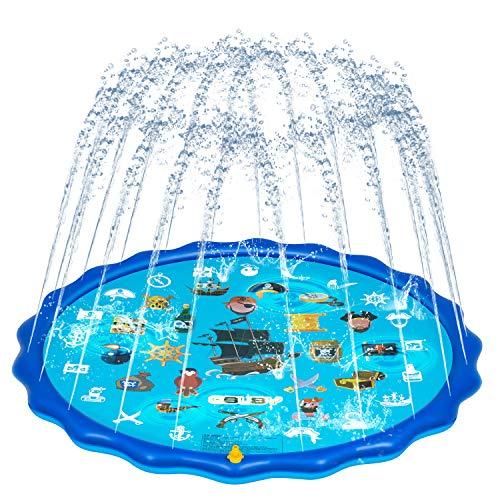 OBUBY Sprinkle & Splash Play Mat, Sprinkler for Kids,Upgraded 68