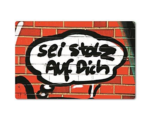 tom bäcker Magnet/Kühlschrankmagnet Nr 411 - Titel: Ehre WEM Ehre GEBÜHRT - Aufschrift: *SEI STOLZ Fotoserie Die schöne Sprache