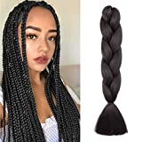 Pelo Sintetico para Trenzas Africanas Extensiones de Cabello Jumbo Braids Crochet Braiding Hair Extensions 1pcs 60cm Negro natural