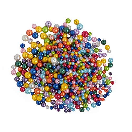 Rudolf Vater GmbH & Co. KG Perles en Verre cirées, mélange « Multicolore », 150 g