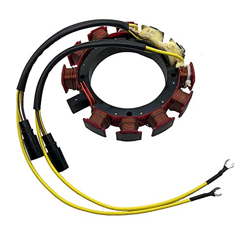 【4.15-4.18 OFF】JETUNIT Outboard Stator For Johnson Evinrude OMC Sea Drive 35AMP 6 & 8 Cylinder 18-5868 583847 583117 583670 173-3117