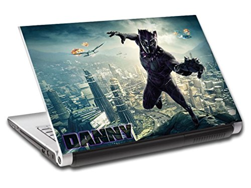 Black Panther Super Hero Personalized LAPTOP Skin Cover Decal Sticker L774, 15.6'