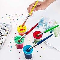 TOP-MAX - Kit di pennelli in spugna, kit di pennelli per pittura per bambini, per apprendimento precoce per bambini, kit di pittura fai da te per imparare i bambini, 56 pezzi #2