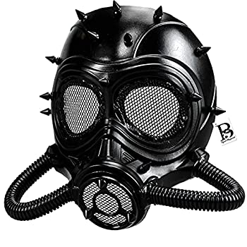 Cosplay Steampunk Gas Mask Masquerade Party Mask Respirator Mouth Mask Halloween Costume  Black