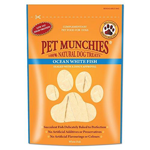 Haustier Munchies Ozean weiß Fisch Streifen Hunde Snacks 8 x 100g (Großhandel Geschäft)