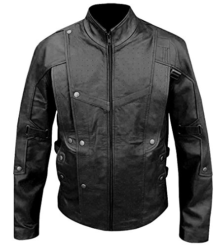 Disfraz de Guardianes de la Galaxia, estilo informal, chaqueta de piel auténtica