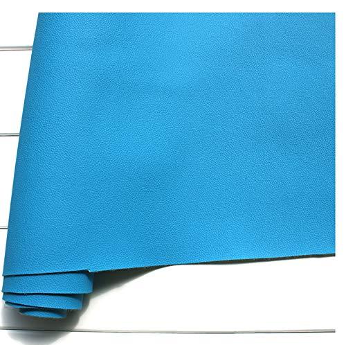 GERYUXA Tela de cuerode Piel Cuero Artificial, para Sofá Asientos Dede Reparación de Polipiel Herramienta de Costura de Cuero-Azul a12 1.4x9m