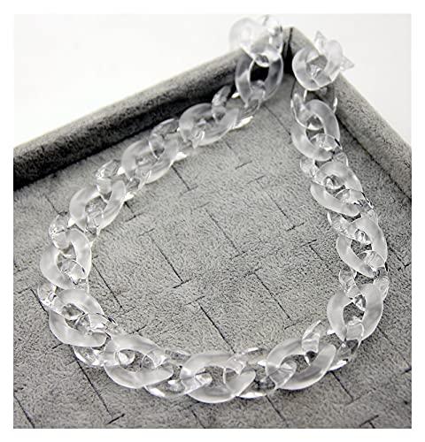 zlw-shop Collar de Mujer Nuevo Collar Colgante de Bloqueo de Cadena Negra de acrílico para Hombres Mujeres Hip Hop Hebilla de Cadena de Hebilla de joyería de Moda Collares Pendientes (Color : B)