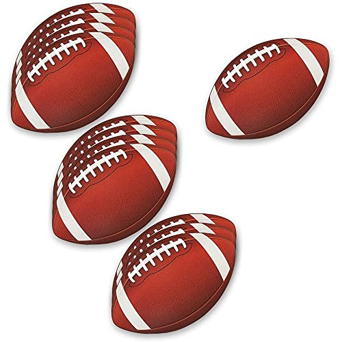 Blue Panda Football Decorations for Party | Football Cutout for Game Day (12 Pack)