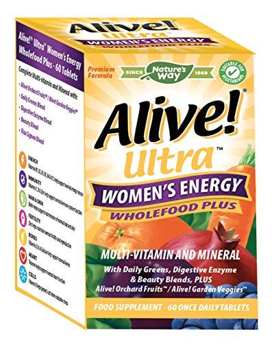 Alive! Ultra Women's Energy Wholefood Plus Multivitamins - 60 Tablets