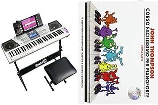Rockjam Tastiera Kit Pianoforte 61 Tasti Cuffie Supporto della Tastiera & Hal Leonard John Thompson's Corso Facilissimo Pe...