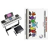 Rockjam Tastiera Kit Pianoforte 61 Tasti Cuffie Supporto della Tastiera & Hal Leonard John Thompson's Corso Facilissimo Per Pianoforte: Prima Parte (Book/CD) Lingua inglese