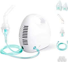 Cool Mist Inhaler Machine Kit Portable Compressor System with Universal Tubing 2 Masks for Adults and Kids