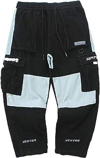 Irypulse Unisex Cargo Pantalones Combate Trousers Cordones Multi Bolsillos Flojo Ropa Calle Pants para Hombres Mujeres Jóv...