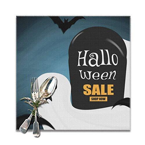 GIERTER Glad Halloween rea bordstablett antifouling hopfällbar köksdekoration bordstablett set om 6 tvättbara