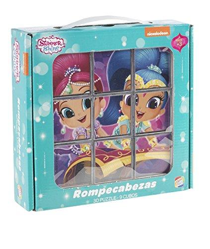 Shimmer and Shine Disney Rompecabezas de 9 Cubos