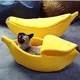 huichang Hundebett Katzenbett Baumwolle Banane Pet Bett Kissen für Hunde Katzen Haustierbett...