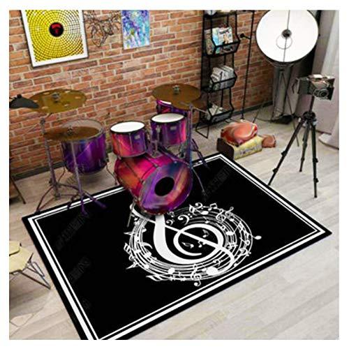 Alfombras CXIA Kit De Batería área De Música, Colorida Alfombrilla Interior Suave Y Lavable para Piso Puerta Juego para Sala D(Color:CX-02,Size:100x120cm)