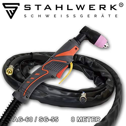 STAHLWERK CUT Plasmaschneidbrenner AG-60 / SG-55 Schlauchpaket 8 Meter bis 70A