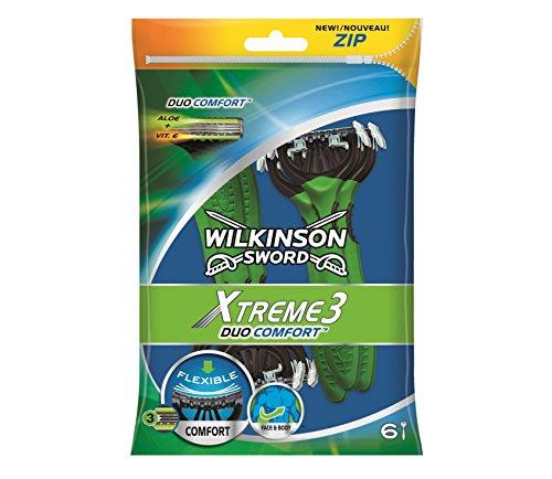 Wilkinson Sword Xtreme Nummer 3Duo Einweg Rasierer für Männer, 6Stück