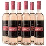 Dom Hermano - Pinot Noir - Roséwein trocken - Sommer Wein - Wein passt zu Meeresfrüchte - 6 Flaschen (6 x 0,75l) - Wein Geschenk für Frauen- Portugiesischer Wein - IGP Tejo