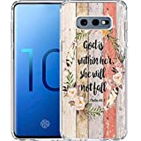 Galaxy S10 Case, LAACO Scratch Resistant TPU Gel Rubber Soft Skin Silicone Protective Case Cover for Samsung Galaxy S10 6.1 Inch (2019) Christian references Psalm 46:5